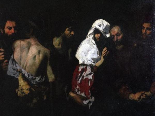 Aniello Falcone, Giacobbe contempla la tunica insanguinata, 1607-1656