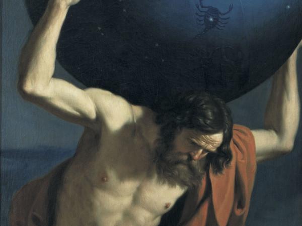 Giovanni Francesco Barbieri detto il Guercino, <em>Atlante che sostiene il globo celeste</em>, 1646, Firenze. Museo Mozzi Bardini