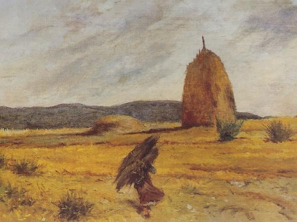 Giovanni Fattori, La fascinaia a Castiglioncello, 1903-1907, olio su tela