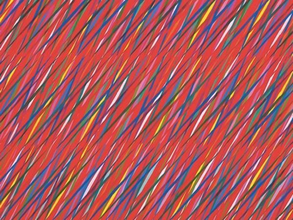 Piero Dorazio, Inter-nos, 1985, olio su tela, cm. 200x150