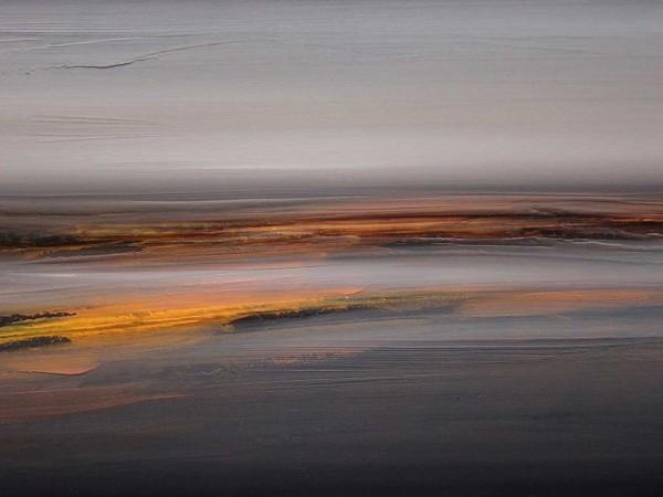 Silvio Lacasella, Prime luci, 2012, olio su tela, cm 47x86. Collezione privata