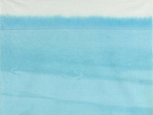 Antonio Scaccabarozzi, Immersione, 1980, immersione azzurra, 53x64 cm.