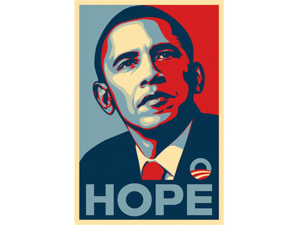 Shepard Fairey OBEY, Barack Obama Democratic<em> HOPE </em>Election Poster, 2008 | © Shepard Fairey