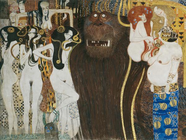Gustav Klimt, Il Fregio di Beethoven, 1902, Österreichische Galerie Belvedere, Wien