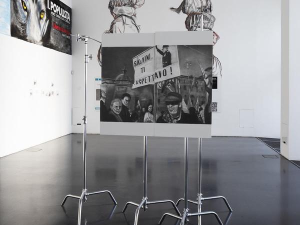 Marc Bauer, Mi piace  Commenta  Condividi, A Rhetorical Figure, installation view at Istituto Svizzero, Milan