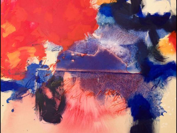 Giovanna Fra, Nel silenzio di un angelo, 2017, pigmenti su tela, cm. 100x100, dittico