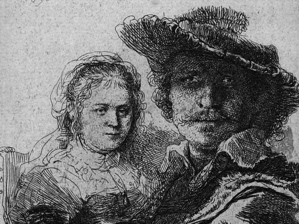 Rembrandt, <em>Autoritratto con Saskja</em>