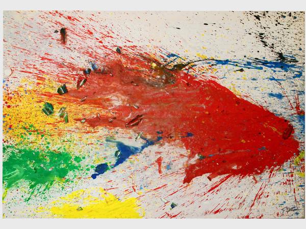 Shozo Shimamoto, Capri - Certosa 13, 2008, acrylic on light canvas, 185 x 274 cm.