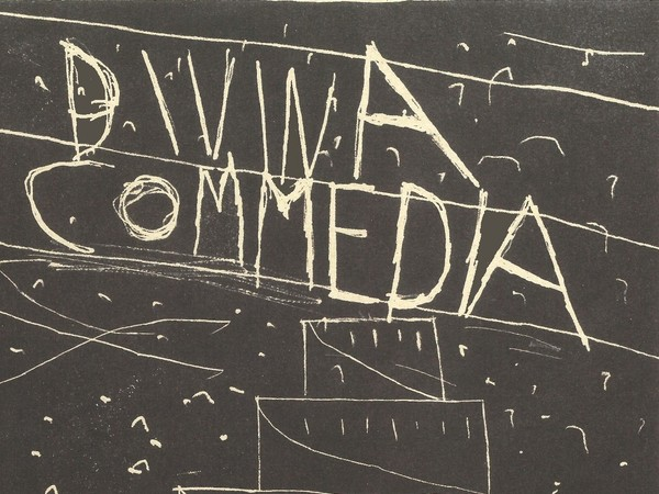 Mimmo Paladino, Divina Commedia, Frontespizio, 2009, litografia, cm. 30x22