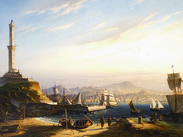 Antoine Edmond Joinville, Ingresso del porto di Genova