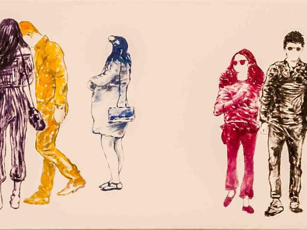Tommaso Chiappa, Multicultural Duo, 2017, particolare. Acrilico su tela, cm. 100x150