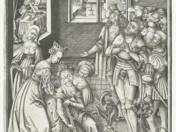 Meckenem, Israhel van,Morte di Lucrezia, 1455-1503