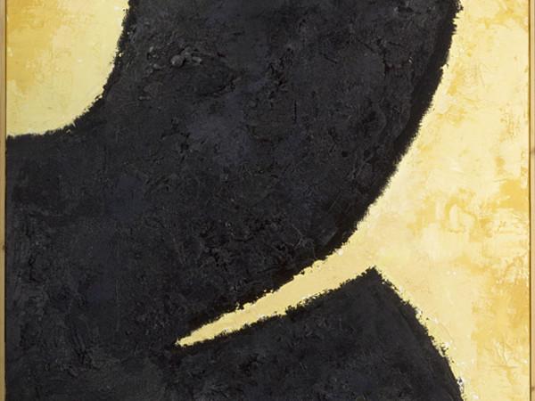 Renato Barisani,Grande forma, 1998, quadro di cm. 162x130,5, tecnica mista su tela e tavola