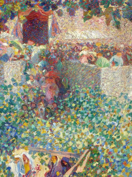 Plinio Nomellini, Festa al villaggio, 1912-1913, Prima e dopo la Secessione Romana. Pittura in Italia 1900-1935, Viareggio