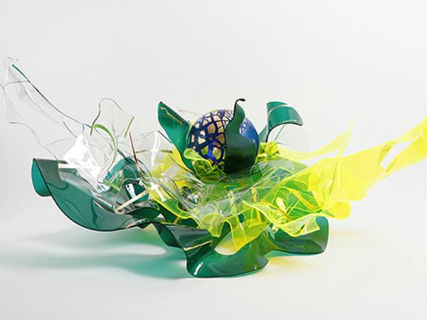 Alessandra Angelini,, Insalata mista Plexiglass termoformato amano dall'artista + foglia oro