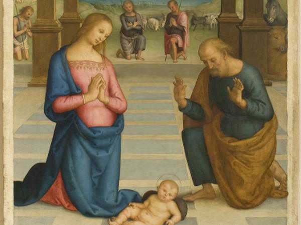 Pietro Vannucci detto il Perugino, <em>Adorazione dei pastori</em> <em>(Particolare)</em>, Tavola, 147 x 263 cm, Perugia, Galleria Nazionale dell&rsquo;Umbria