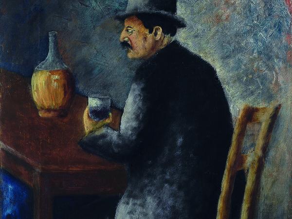 Ottone Rosai, Fiacchieraio, 1927, Olio su tela, 40.7 x 32.7 cm, Collezione privata