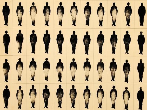 Renato Mambor, Ultimo giorno, 1963, olio su tela, cm. 90x100