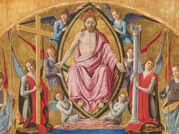 Polittico Griffoni, 1472-1473 circa, Francesco del Cossa,San Vincenzo Ferrer, Tempera su tavola, Londra, National Gallery