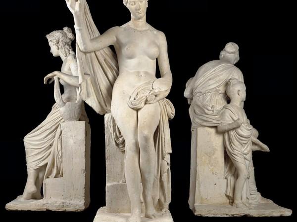 Lorenzo Bartolini, Monumento a Nikolaj Demidov - fronte Misericordia e Riconoscenza, 1828 - 1850, gesso, cm. 220. Galleria dell'Accademia di Firenze