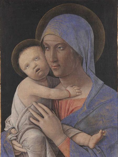 Andrea Mantegna, Madonna con il Bambino, tempera su tela, 31x43 cm