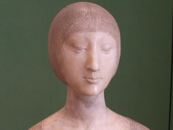 Francesco Laurana, Busto di Eleonora d'Aragona, 1489 ca. Marmo, h. cm 43. Provenienza: Calatamauro (PA), Abbazia di Santa Maria del Bosco. Palermo, Galleria Regionale della Sicilia di Palazzo Abatellis