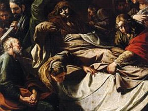 Alessandro Tiarini, Morte della Vergine, olio su tela