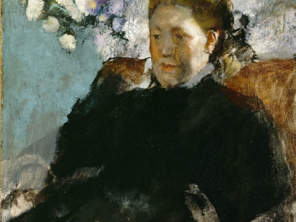 <span>Edgar Degas,</span><span>&nbsp;</span><em>Ritratto di donna</em><span>, 1877.&nbsp;</span><span>Olio su tela, 64,8 &times; 53,3 cm. Detroit Institute of Arts</span>