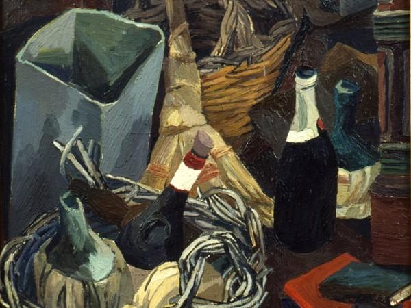 Renato Guttuso, Un angolo dello studio di via Pompeo Magno, 1941-42. Olio su tela, cm 79x64,5. Udine, Casa Cavazzini Museo d'Arte Moderna e Contemporanea