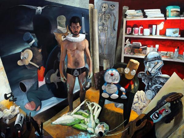 Desiderio, Collodi es un mason, (150x200cm.), acrylic, 2017