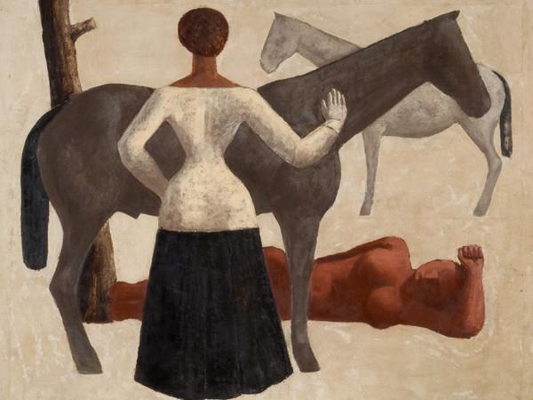 Massimo Campigli,<em> Le amazzoni</em>, 1928, Olio su tela, 100.5 x 80 cm | Courtesy of Ca' Pesaro - Galleria Internazionale d'Arte Moderna, Venezia<br />