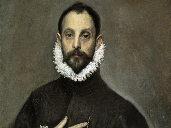 El Greco, pseudonimo di Domínikos Theotokópoulos (Candia, 1541 - Toledo, 1614), Il Cavaliere con la mano nel petto, 1580 circa, Olio su tela, 66 x 82 cm, Museo del Prado, Madrid | Courtesy of Nexo Digital