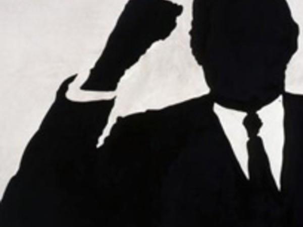 "Sergio Lombardo - ""Charles De Gaulle"" (dettaglio), 1961-1962, smalto su tela, 120 x 180 cm"