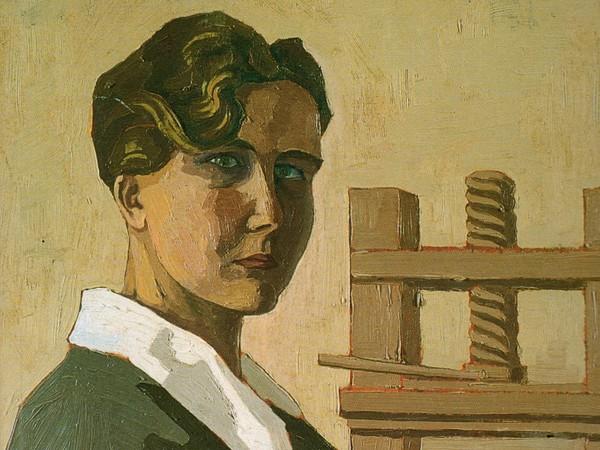 Mimì Quilici Buzzacchi, <em>Autoritratto al torchio</em>, 1926, Olio su tavola | Courtesy of Archivio Mimì Quilici Buzzacchi, Roma