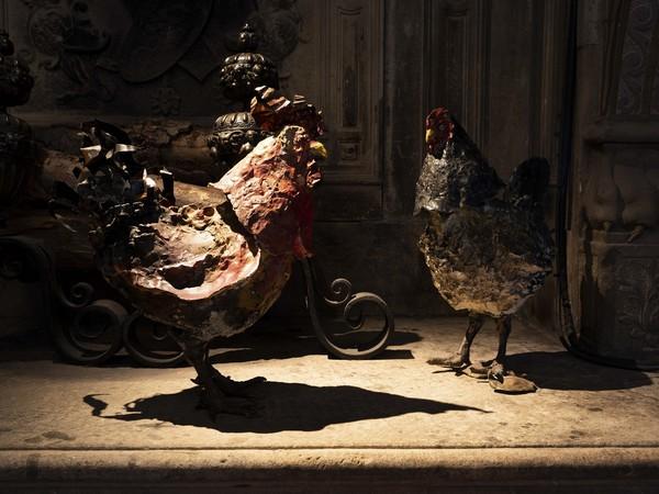 Toni Zuccheri, Di galli e galline, upupe, civette e altri animali, Museo Bagatti Valsecchi, Milano