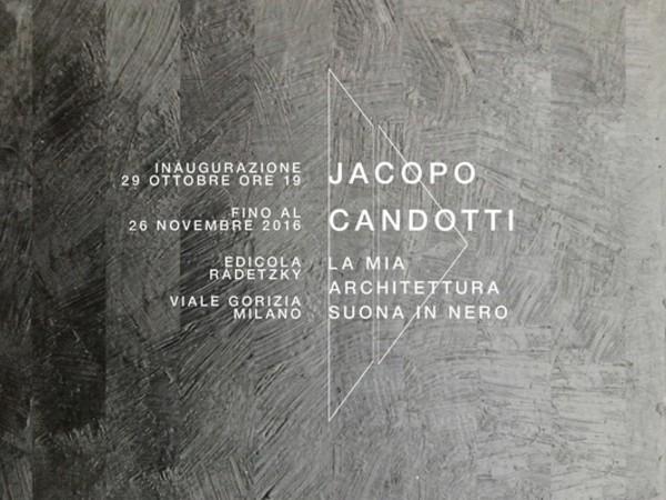 Jacopo Candotti. La mia architettura suona in nero