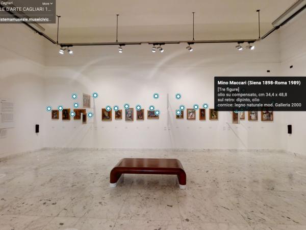 Virtual Tour Sala Maccari, Galleria Comunale d'Arte, Cagliari