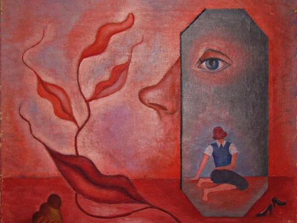 Rita Kernn-Larsen, <em>Autoritratto (Conosci te stesso)</em>, 1937, Collezione Peggy Guggenheim, Venezia | &copy; Rita Kernn-Larsen, by SIAE 2017<br />