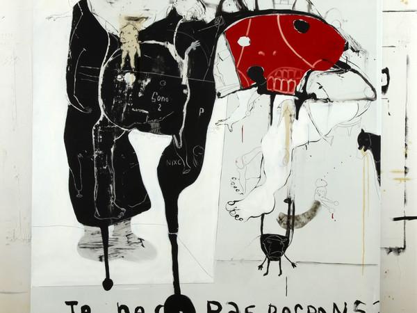 Marco Fantini, stop motion, 2010, tecnica mista su alluminio, 170x229 cm