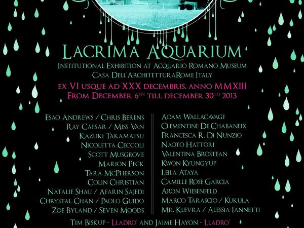 Lacrima Aquarium Institutional Group Exhibition, Acquario Romano - Casa dell'Architettura, Roma