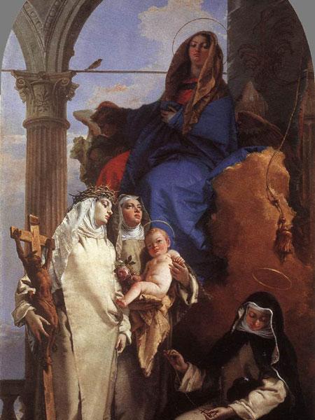La Vergine con le Sante Rosa da Lima, Caterina da Siena e Agnese da Montepulciano