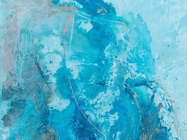Carla Rigato, Donna d'acqua, 2015, acrilico su tela, 100x100 cm