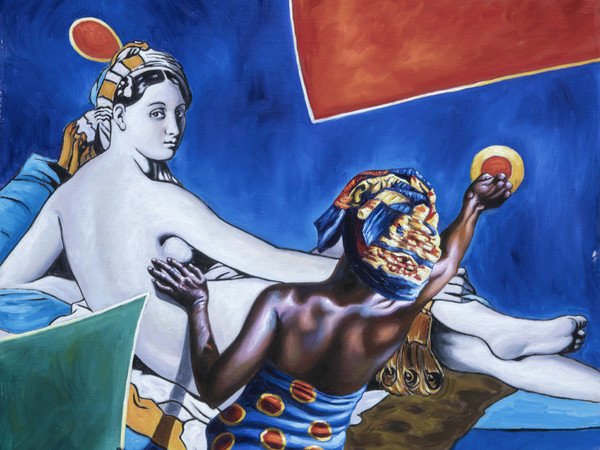 Alì Hassoun, <em>Lo specchio di Venere</em>, 2018, Olio su tela, 50 x 50 cm
