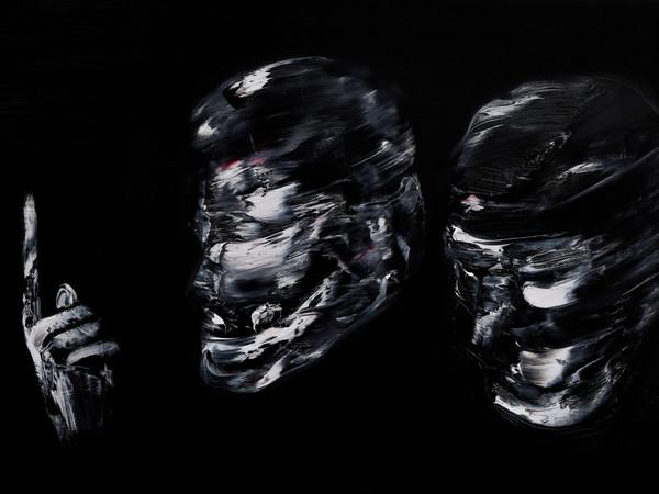 Lorenzo Puglisi, <em>Il Grande Sacrifici</em>o, 2019, Particolare, Olio su tavola di pioppo, 605 x 205 cm<br />