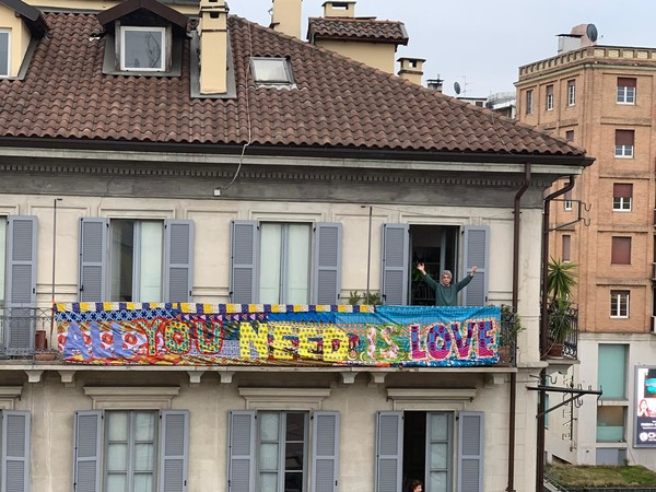 Felipe Cardena, All we Need is Love, 2020. Milano, Bruno Grossetti home, Piazza XXV Aprile
