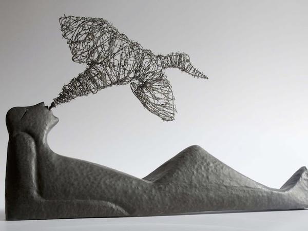 Riccardo Dalisi, Non solo il pensiero, lamiera in ferro battuto a cassetta, 82x120 cm, 1997