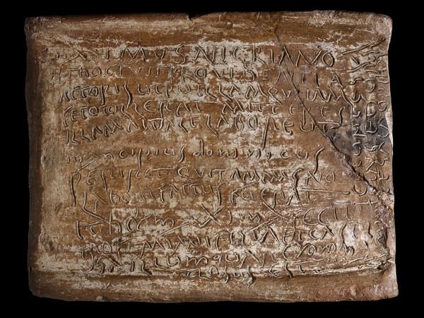 <em>Lettera di Maximus (Tegola iscritta)</em>, Madrid, Museo Arque&ograve;logico Nacional