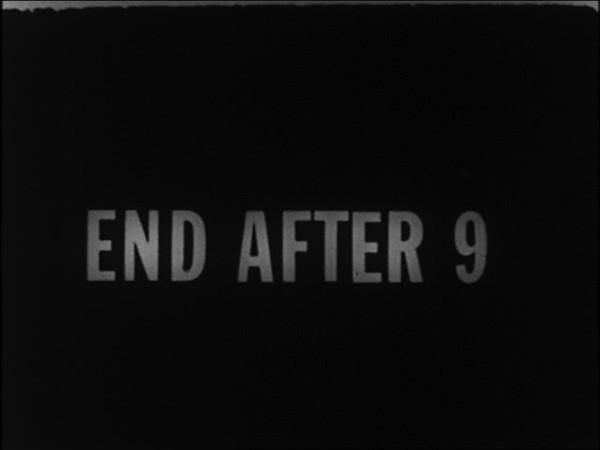 "George Maciunas, Fluxfilm no. 3 – End After 9, 1966. Film 16mm, bianco e nero, muto, durata: 1'11"""