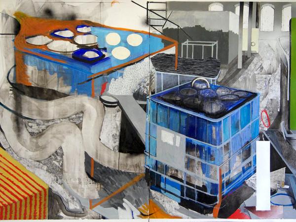 Anna Capolupo, Specie di spazi, 2018, cm. 100x140, tecnica mista su carta