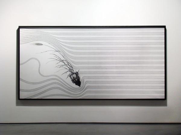 Nicola Toffolini, CX#02, 2014/2015, penna su carta, 150 x 300 cm.